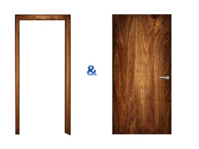 Türen und Türrahmenverkleidungen in Holz Textura.