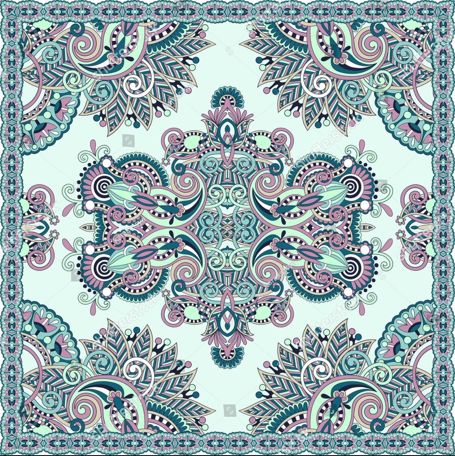 Klebe-Teppiche Quadratisch