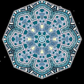 Klebe-Teppiche Rund